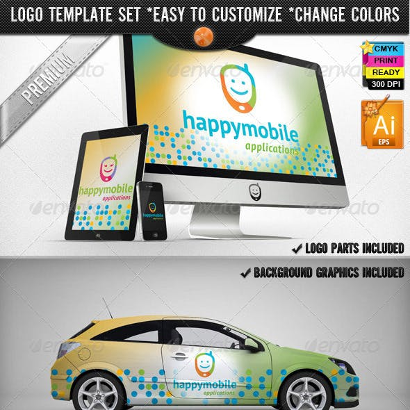 App Development Phone Happy Mobile Logo Design