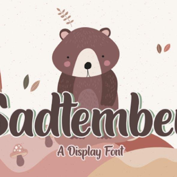 Sadtember | Display Font