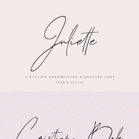 Juliette - Stylish Handwritten Signature Font