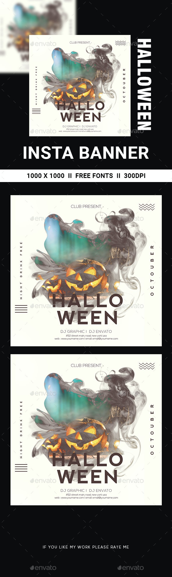 Halloween - Banners & Ads Web Elements
