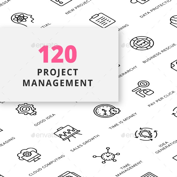 Project Management Outline Icons - Business Icons