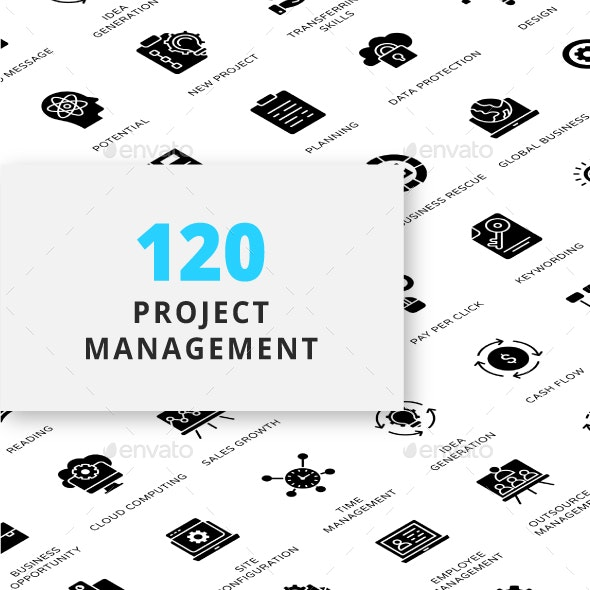 Project Management Glyph Icons - Business Icons