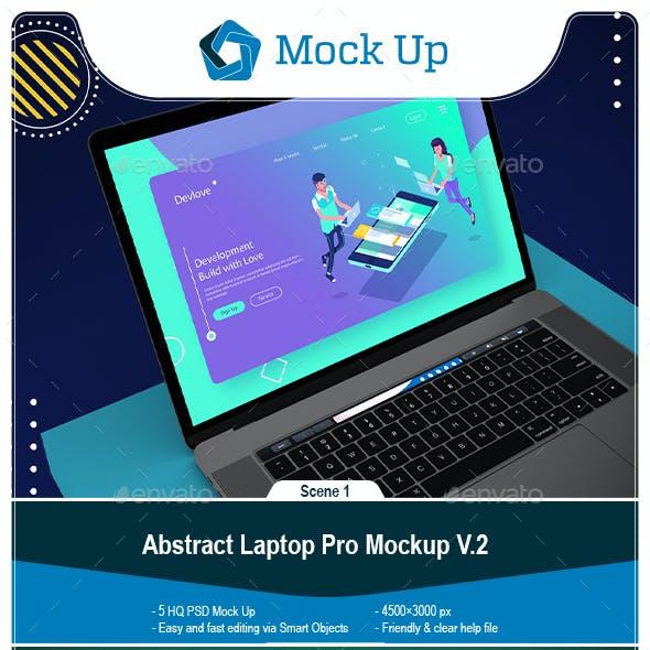 Abstract Laptop Pro Mockup V.2