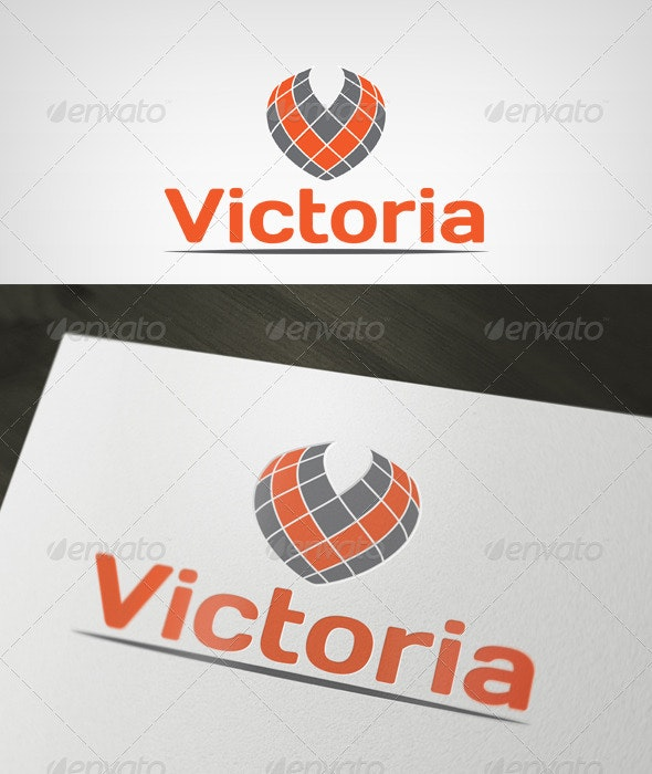 Victoria Logo - Letters Logo Templates