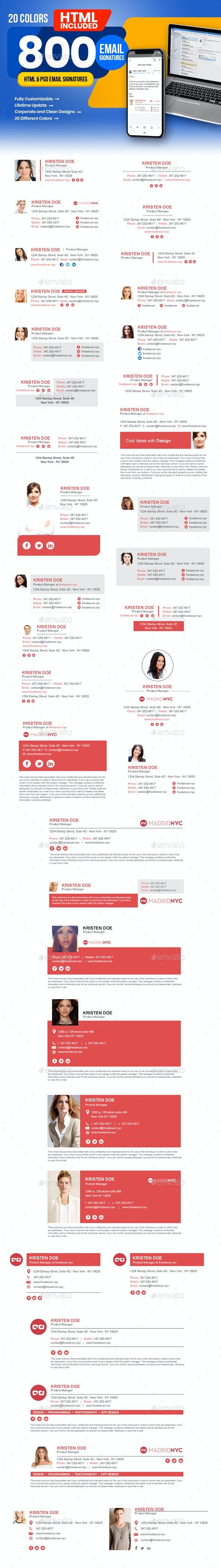 Email Signature - Miscellaneous Social Media