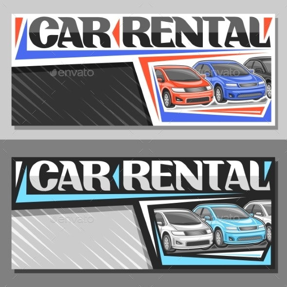 Vector Layouts for Car Rental - Man-made Objects Objects