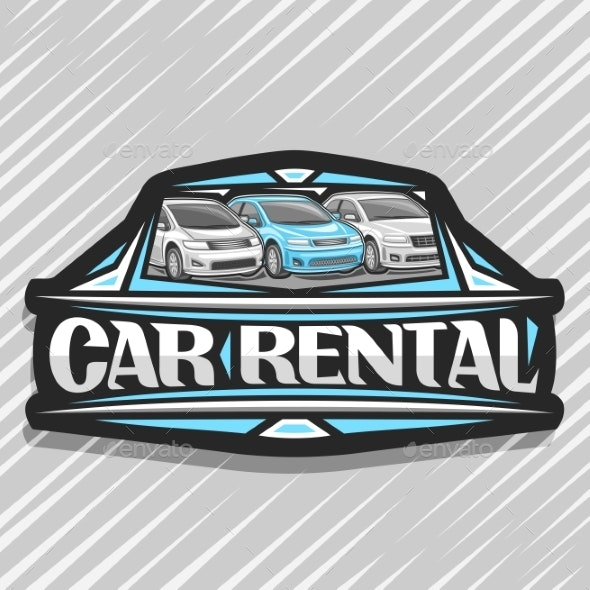 Vector Logo for Car Rental - Man-made Objects Objects