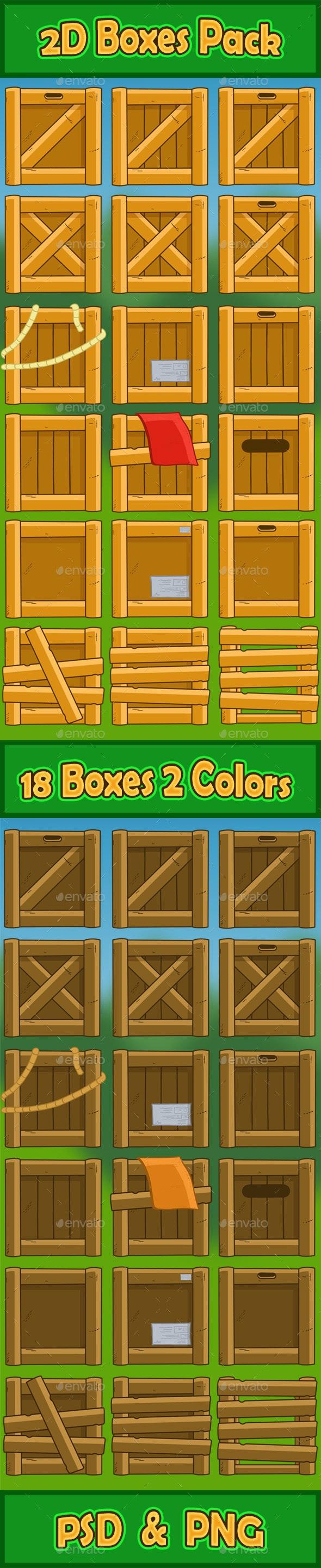 2D Boxes Pack - Sprites Game Assets