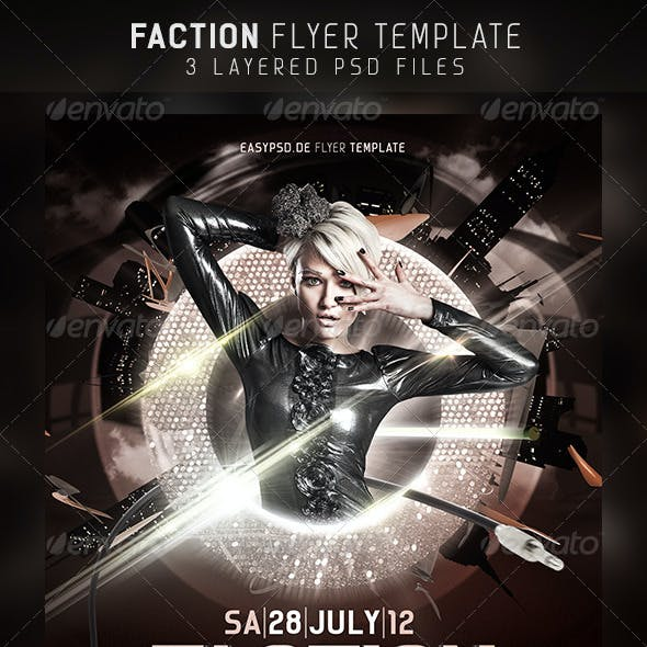 Faction Flyer Template