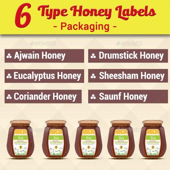 6 Types of Honey Label Design