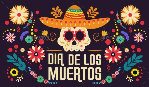 Day of the Dead Banner - Seasons/Holidays Conceptual