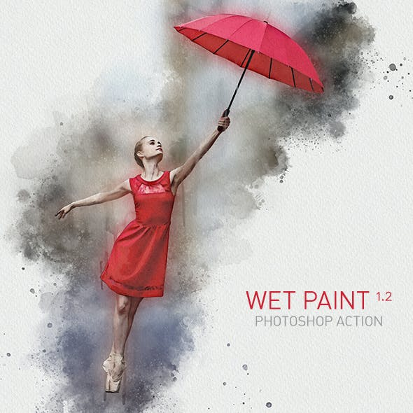Wet Paint Photoshop Action | Rough Water-based Sketch