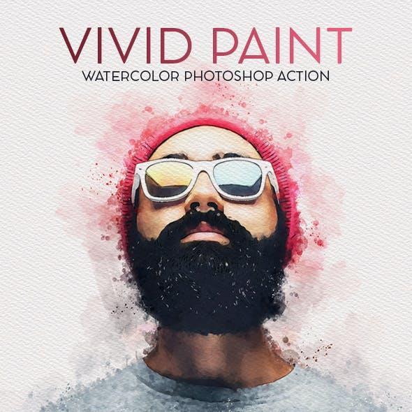 Vivid Paint - Watercolor Photoshop Action