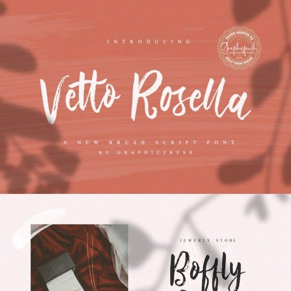 Vetto Rosella – Handwritting Font