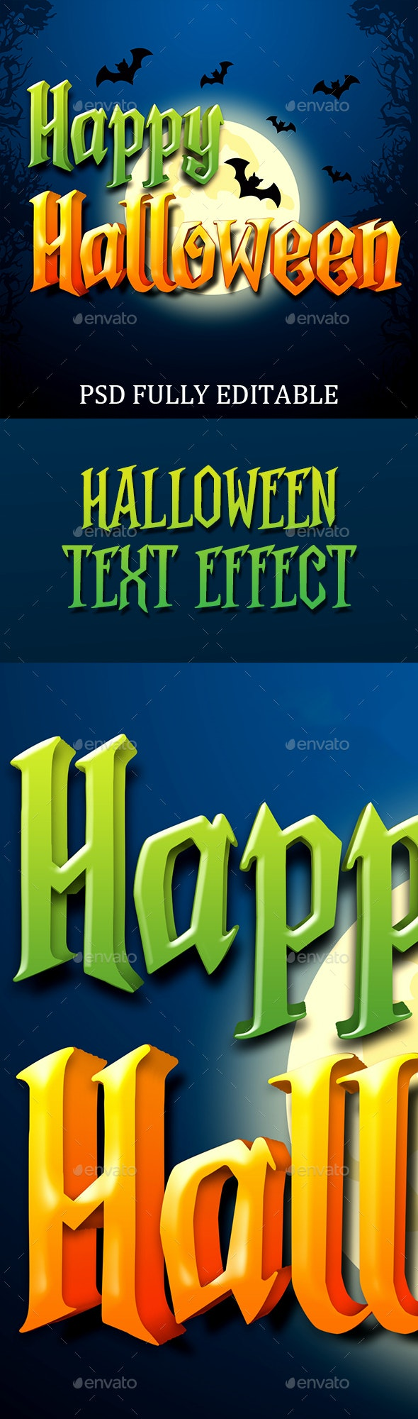 Halloween Text Effects - Text 3D Renders