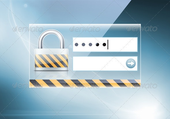 Computer security concept - Technology Conceptual