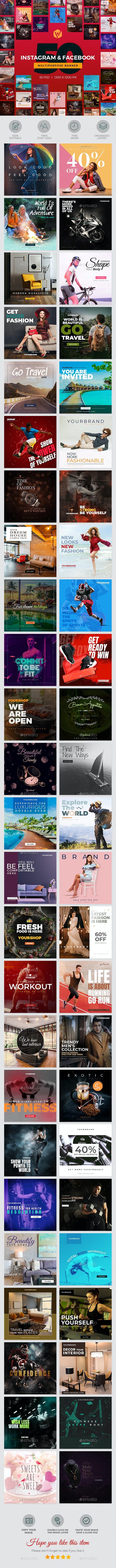 50 Instagram & Facebook Promotions