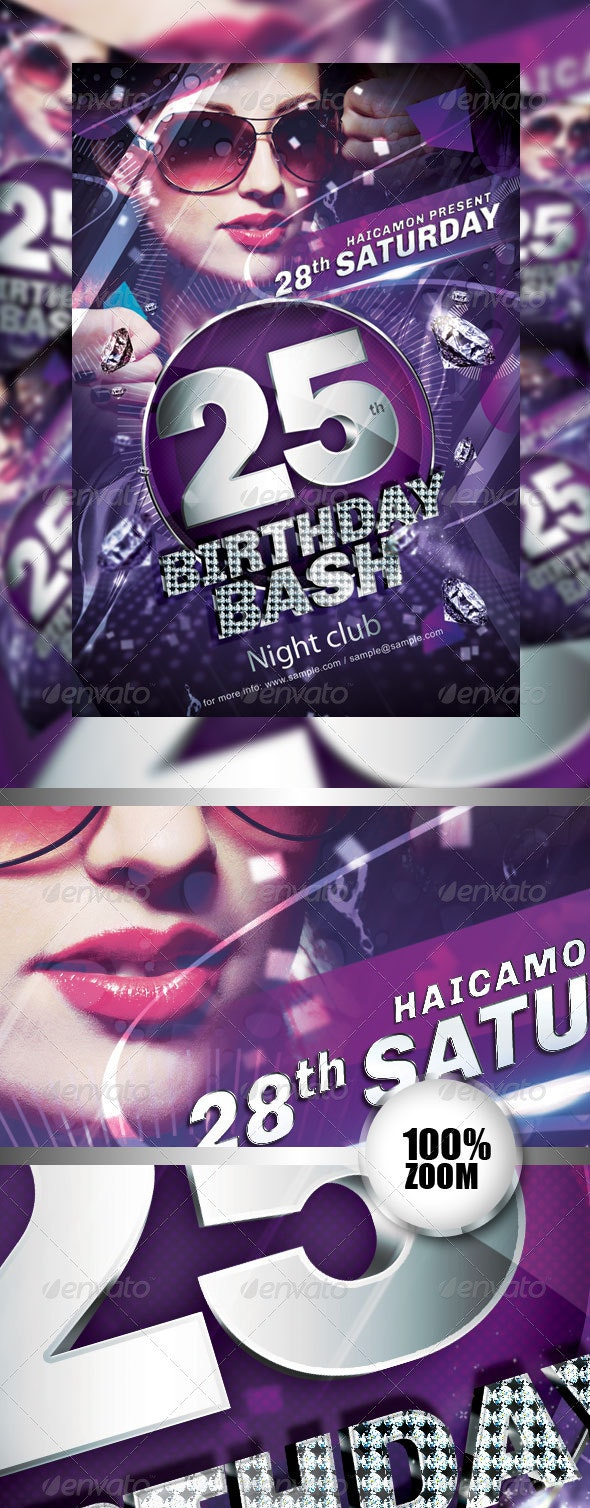 Birthday Party Flyer Vol_2 - Clubs & Parties Events