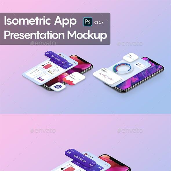 Isometric App Presentation Mockup
