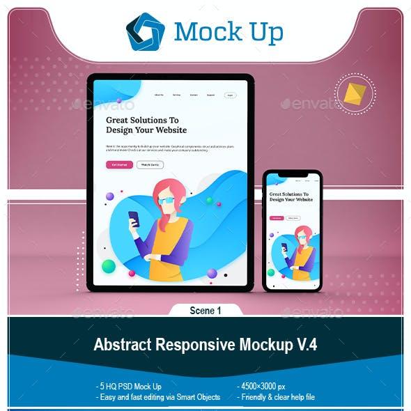 Abstract Responsive Mockup V.4