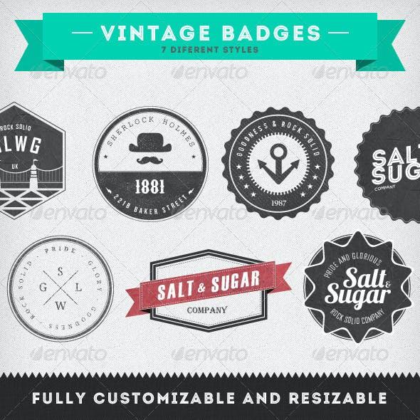 Vintage Badges - 7 Diferent Styles