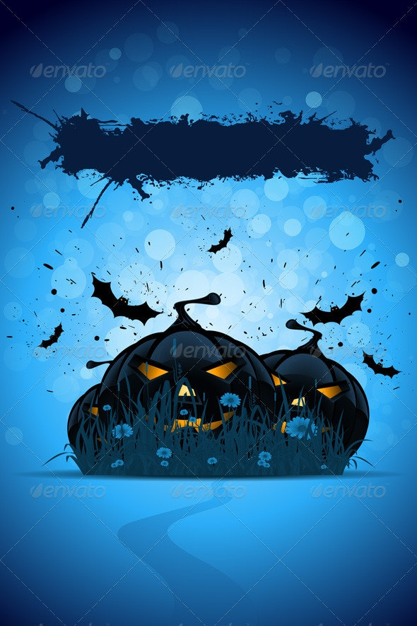 Grunge Halloween Party Template - Halloween Seasons/Holidays
