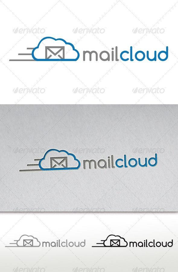 Mail Cloud Logo - Objects Logo Templates