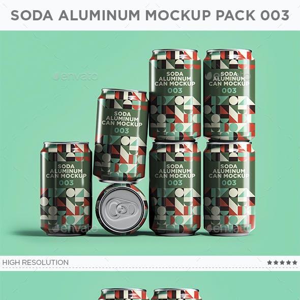 Soda Aluminum Can Mockup Pack 003