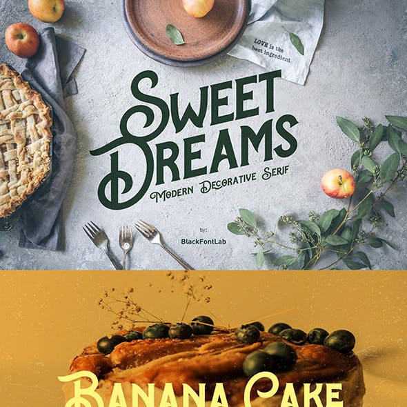 Sweet Dreams Typeface