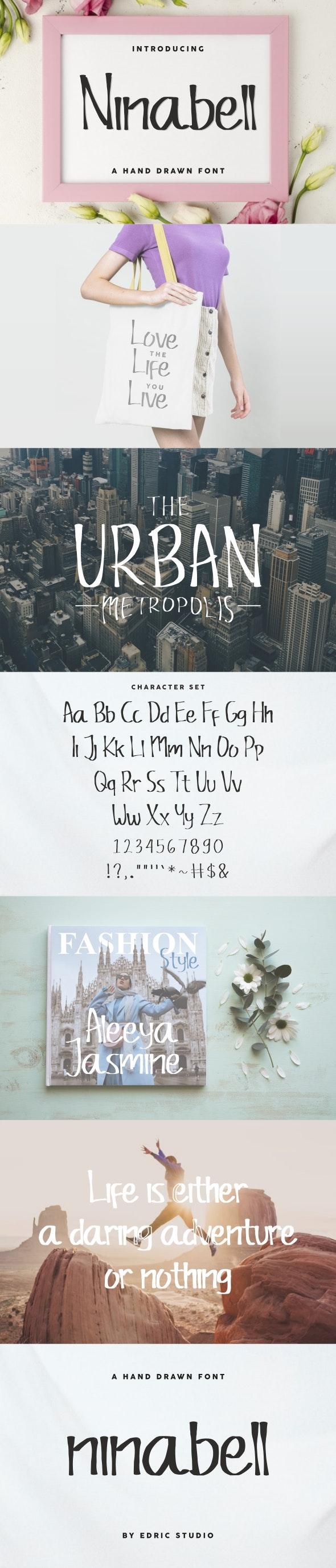 Ninabell Font - Decorative Fonts