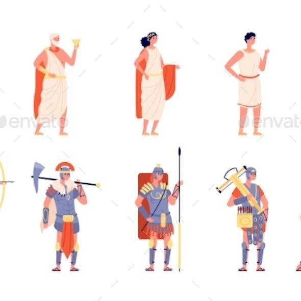 Ancient Rome. Ancients People, Isolated Roman