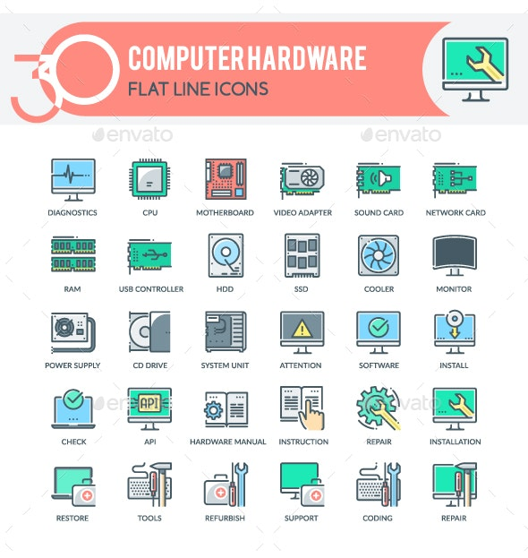 Computer Hardware Icons - Technology Icons