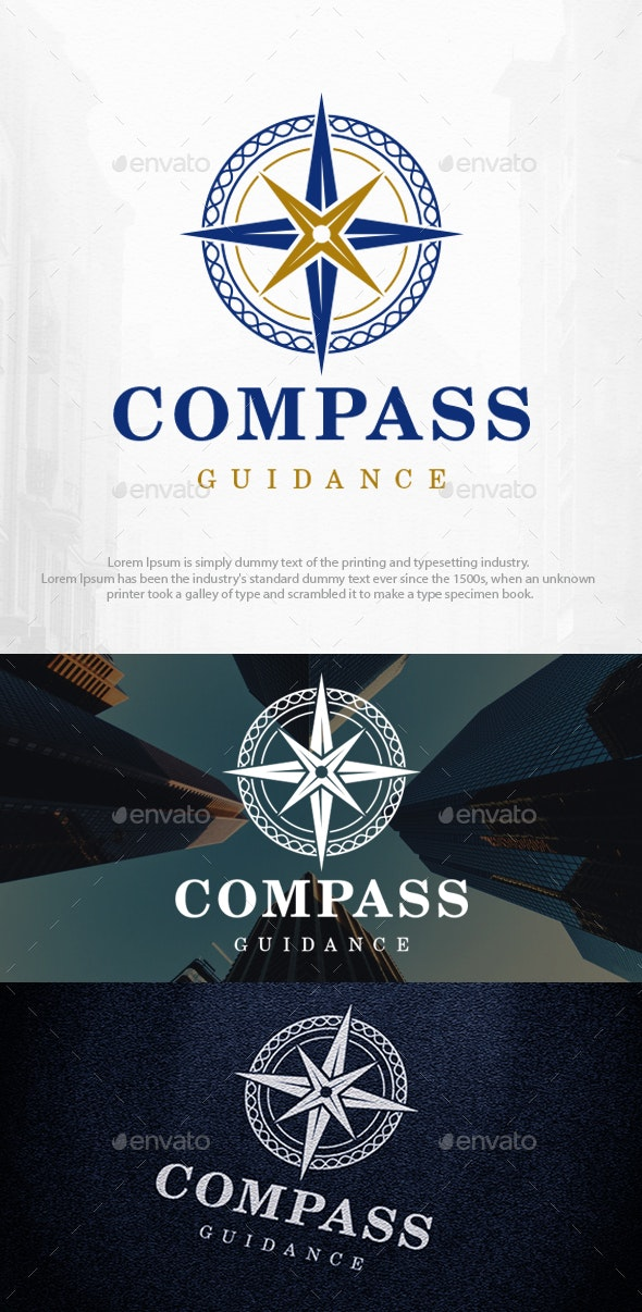 Compass Rose Logo Template - Symbols Logo Templates