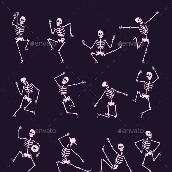 Skeleton Party Undead with Skull and Bones