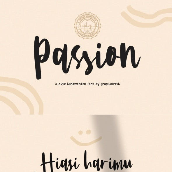 Passion – A Cute Handwritting Font