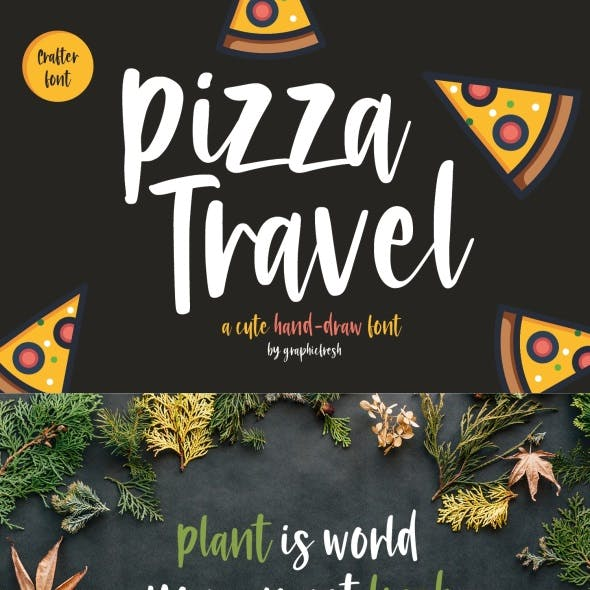 Pizza Travel – Cute Brush Font
