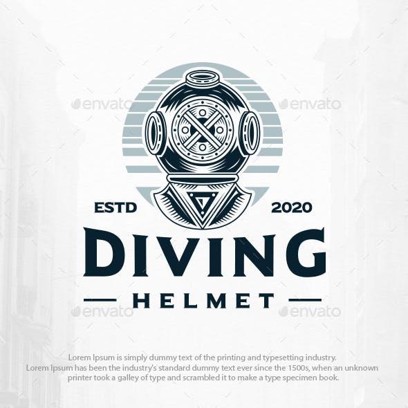 Scuba Diving Vintage Logo Template