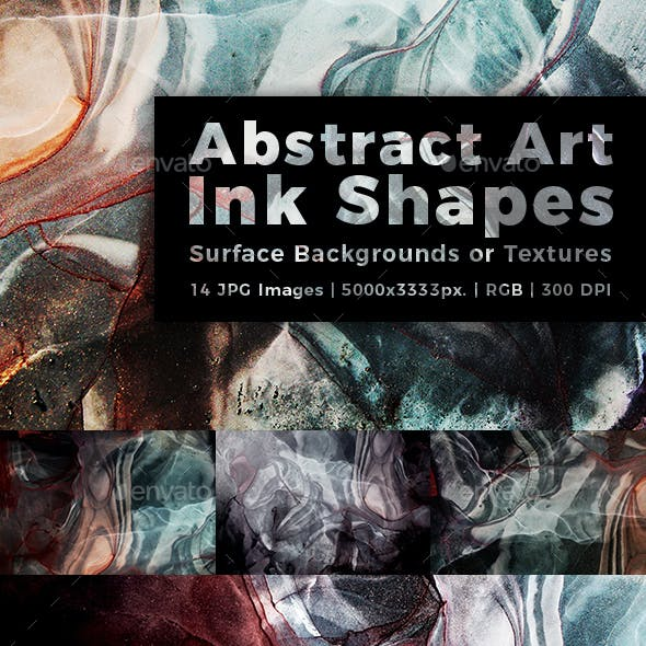 Abstract Art Ink Shapes Surface Background or Textures