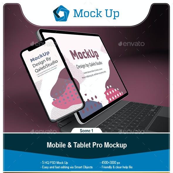 Phone & Tablet Pro Mockup