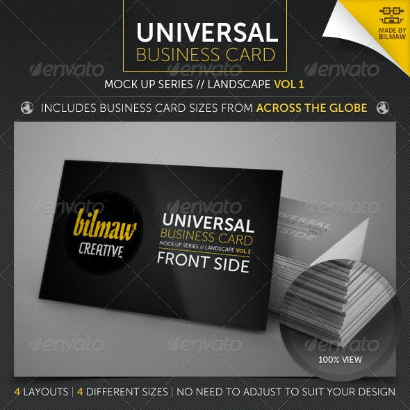 Universal Business Card Mock Up