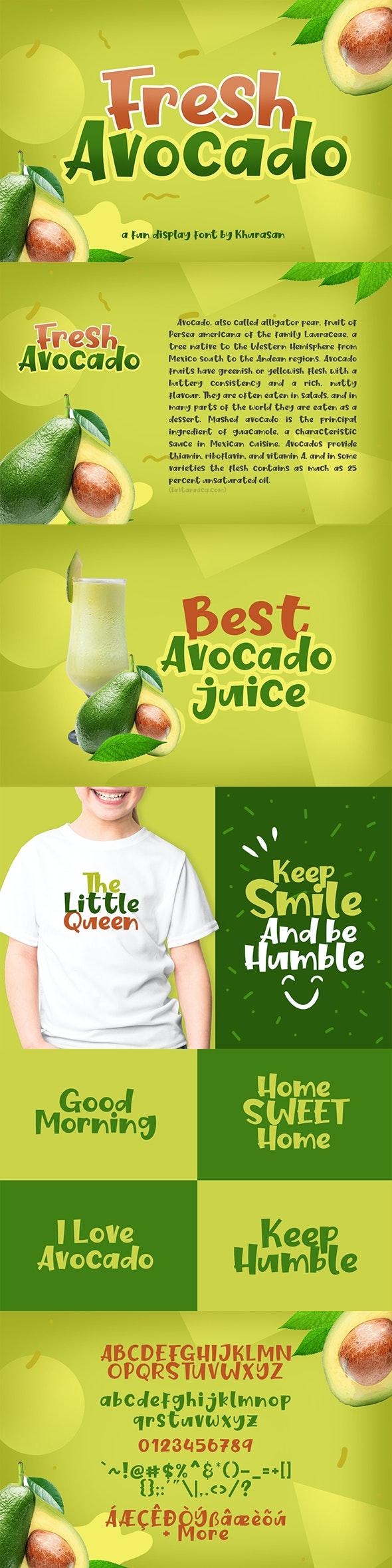 Fresh Avocado - Decorative Fonts