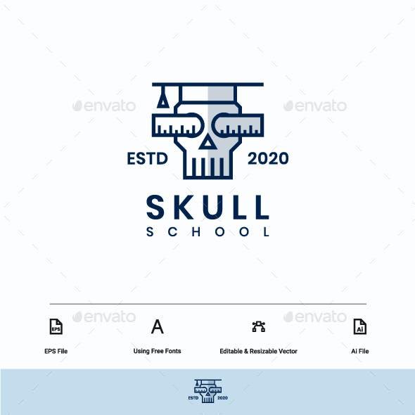 Skull School Logo