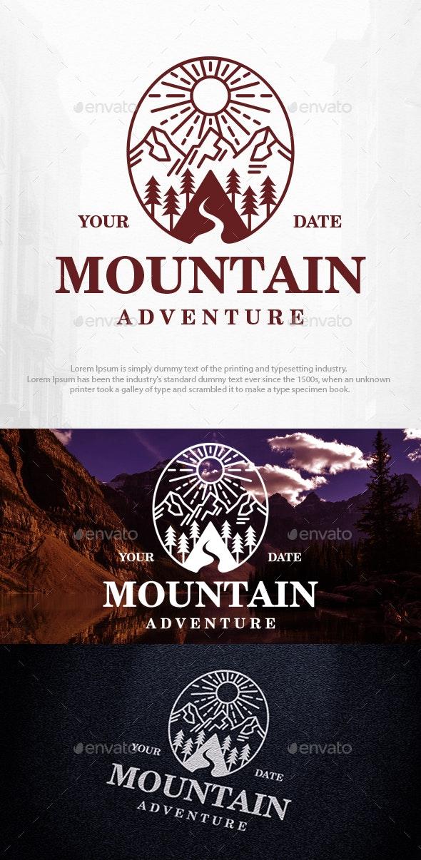 Mountain Landscape Logo Template - Nature Logo Templates