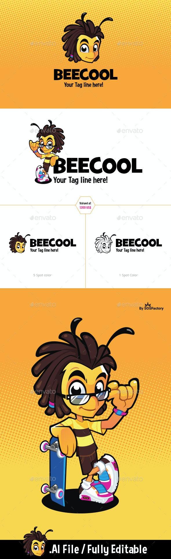 Bee Logo Template - Animals Logo Templates