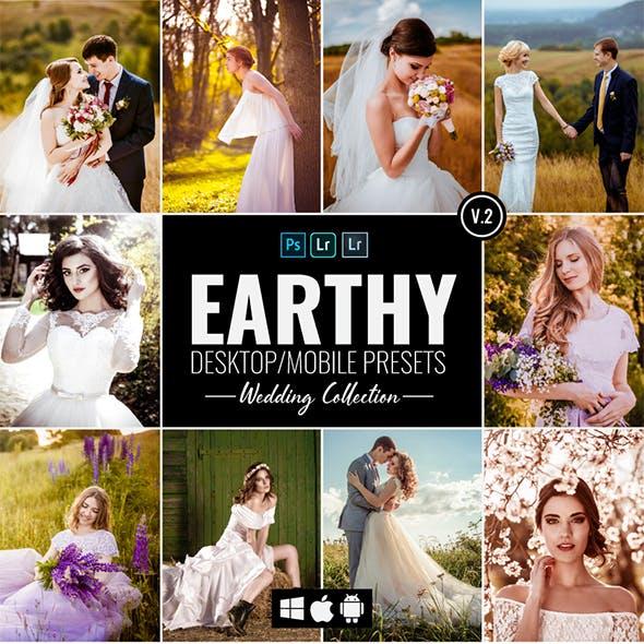 10 Earthy Wedding Desktop & Mobile Presets v2