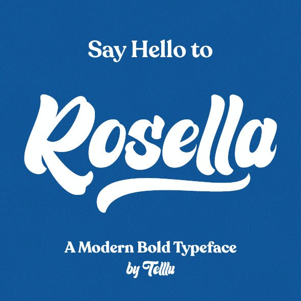 Rosella - Unique Bold Lettering Typeface with Swashes