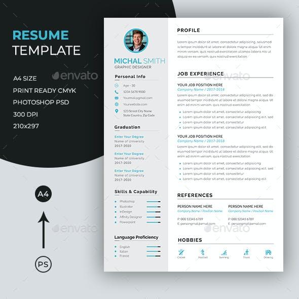 Resume/CV - Simple
