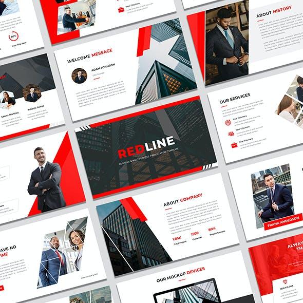 REDLINE - Business & Multipurpose PowerPoint Presentation Template