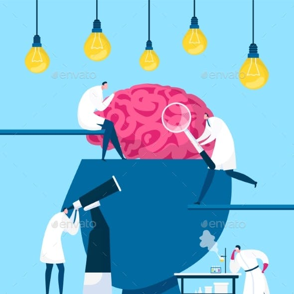Brain Searching Idea Discovery Vector