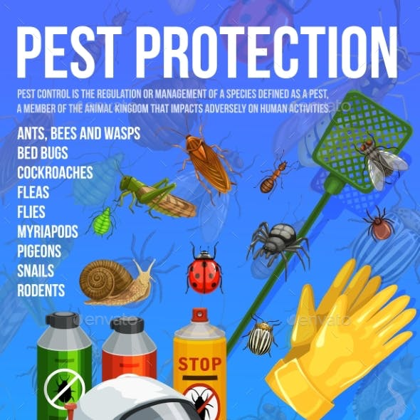 Pest Control Insect Protection Service Poster